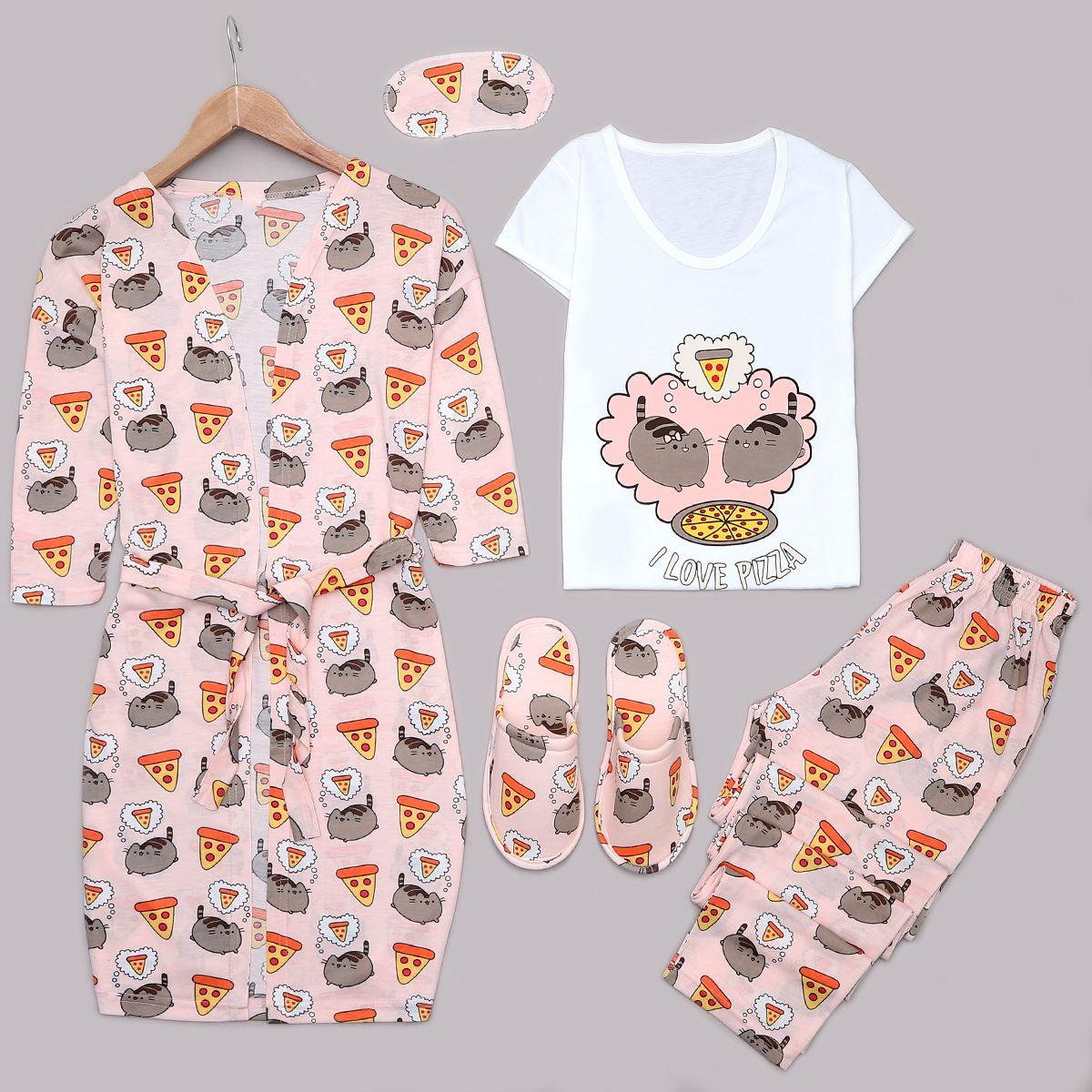 5'Li Pudra Pijama Takımı PJM1180
