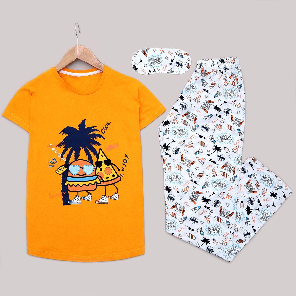 Hardal Uyku Bantlı Pijama Takımı PJM1182
