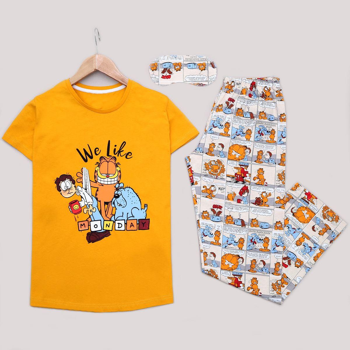 Hardal Uyku Bantlı Pijama Takımı PJM1197