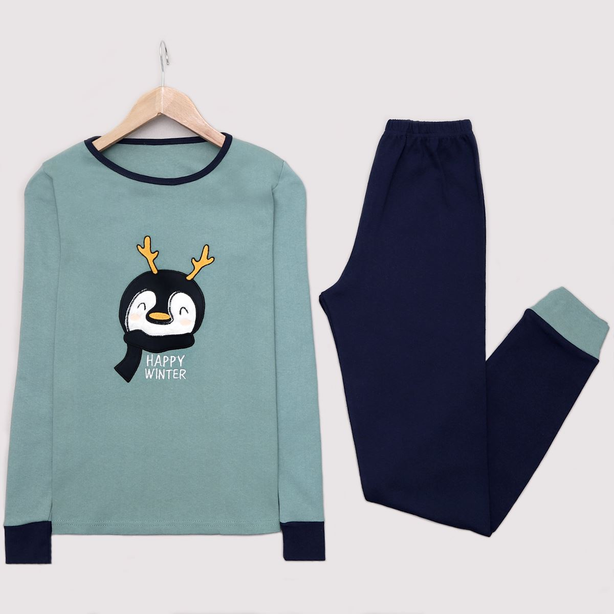 Mint Penguin Pijama Takımı PJM1215
