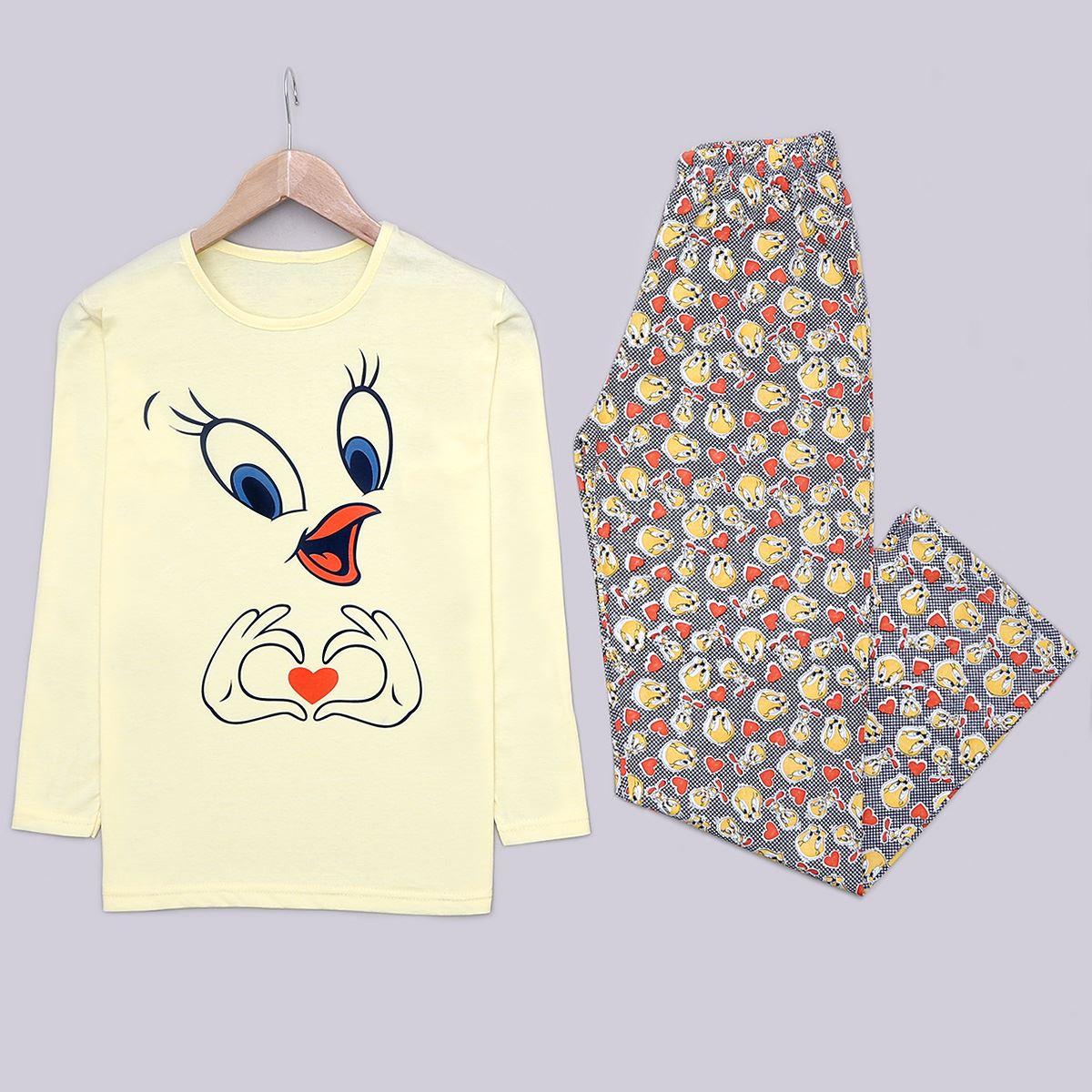 Sarı Tweety Pijama takımı PJM1229