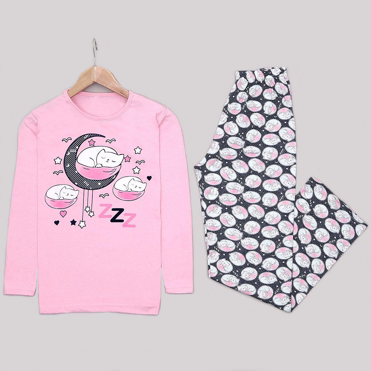 Pembe Cat Pijama Takımı PJM1230