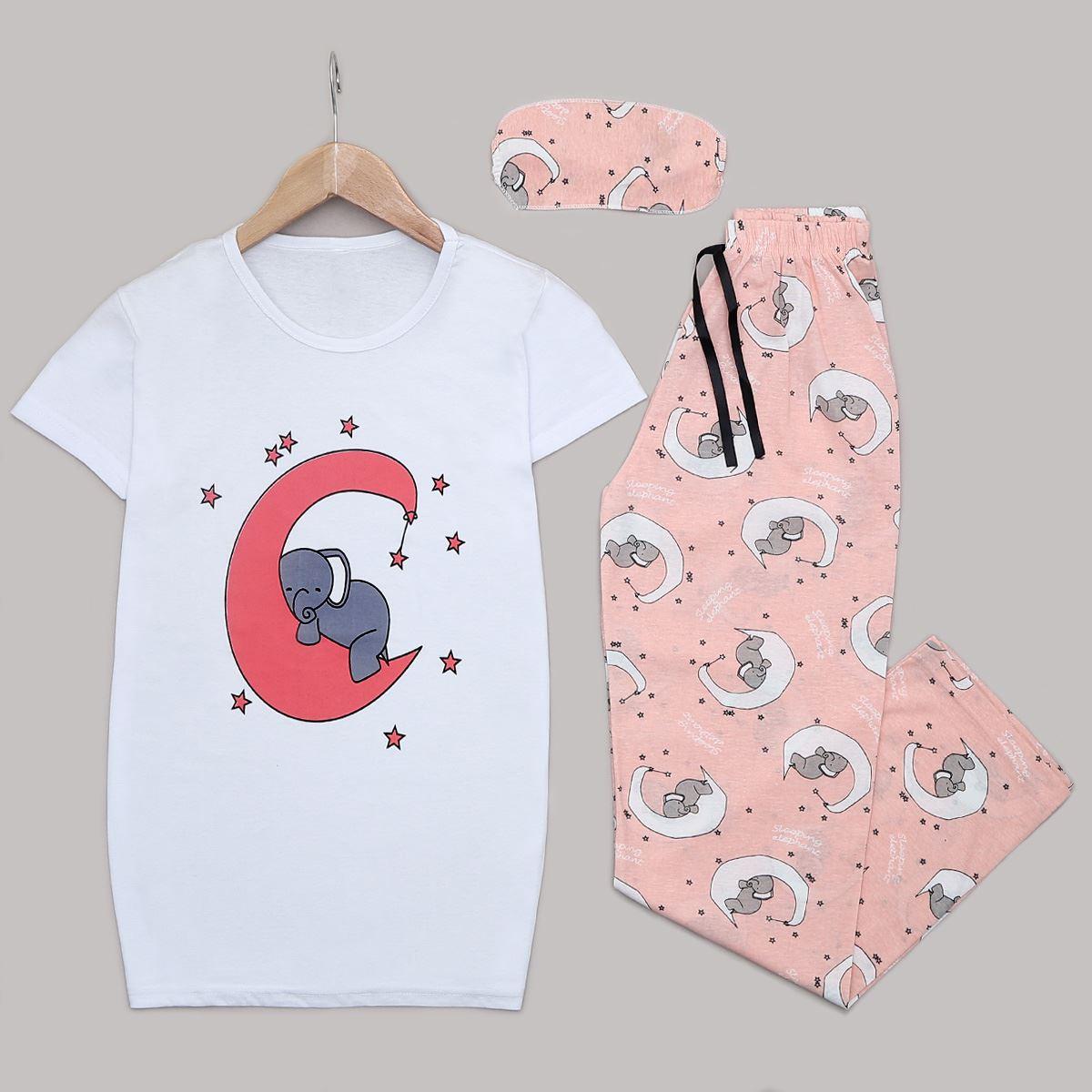 Beyaz Elephant Pijama Takımı PJM1251