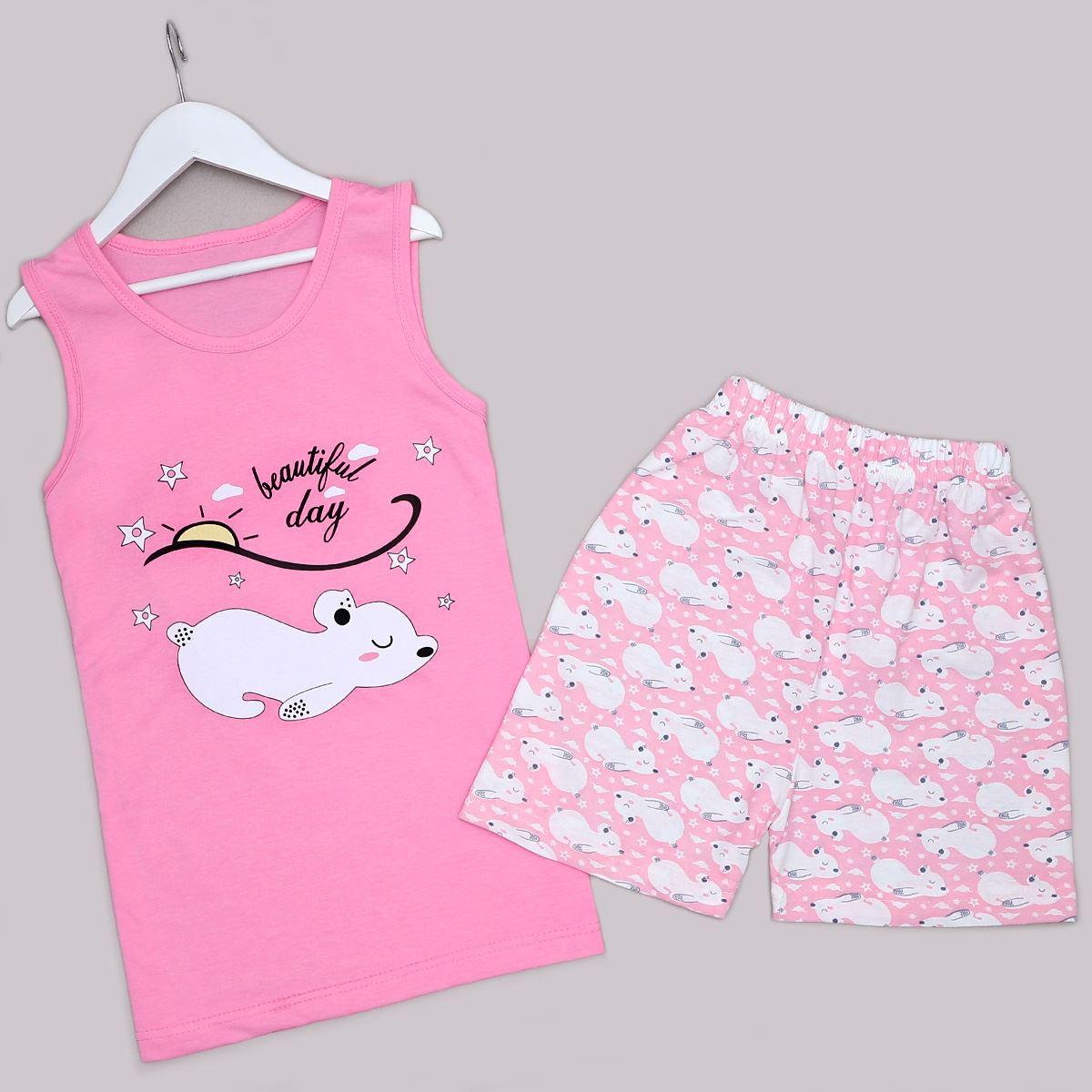 Pembe Şortlu Pijama Takımı PJM1267