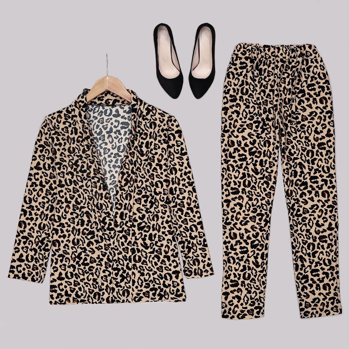 Desenli  Blazer Ceket Pantolon Takım TKM1290