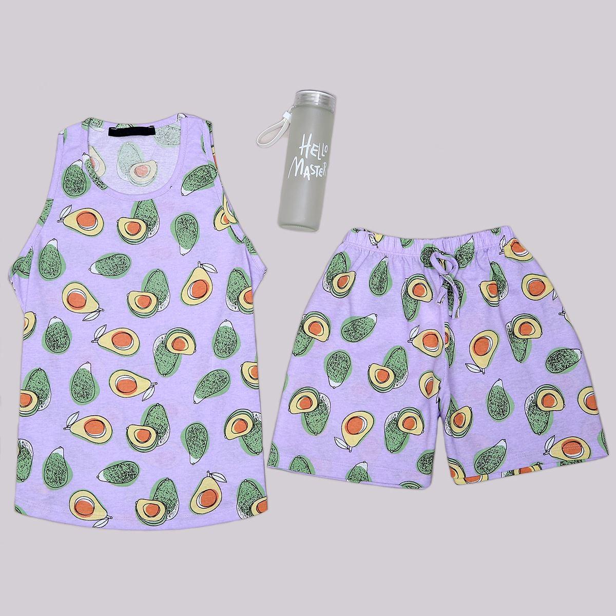 Lila Avakado Pijama Takımı PJM1272