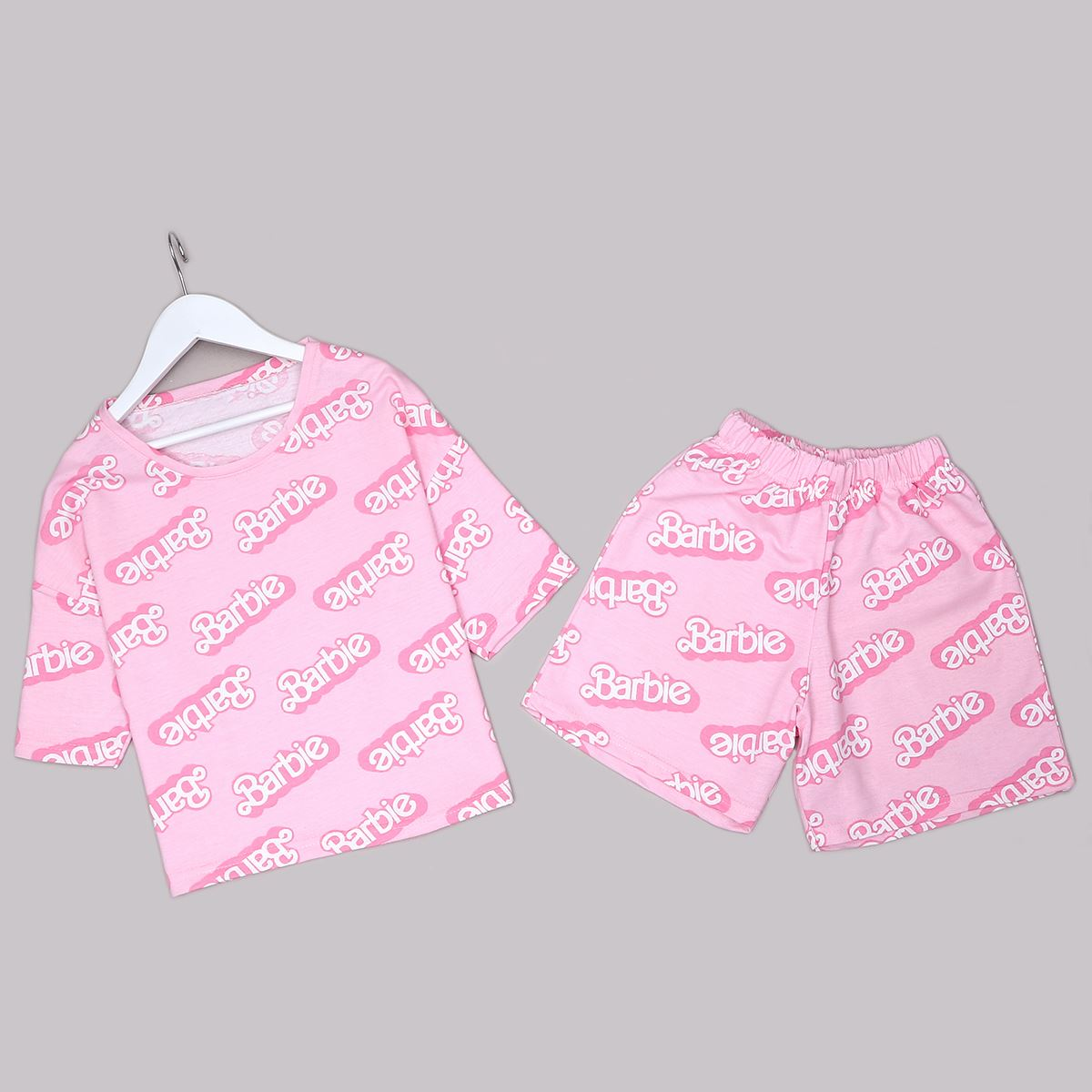 Pembe Baskılı Pijama Takımı PJM1280