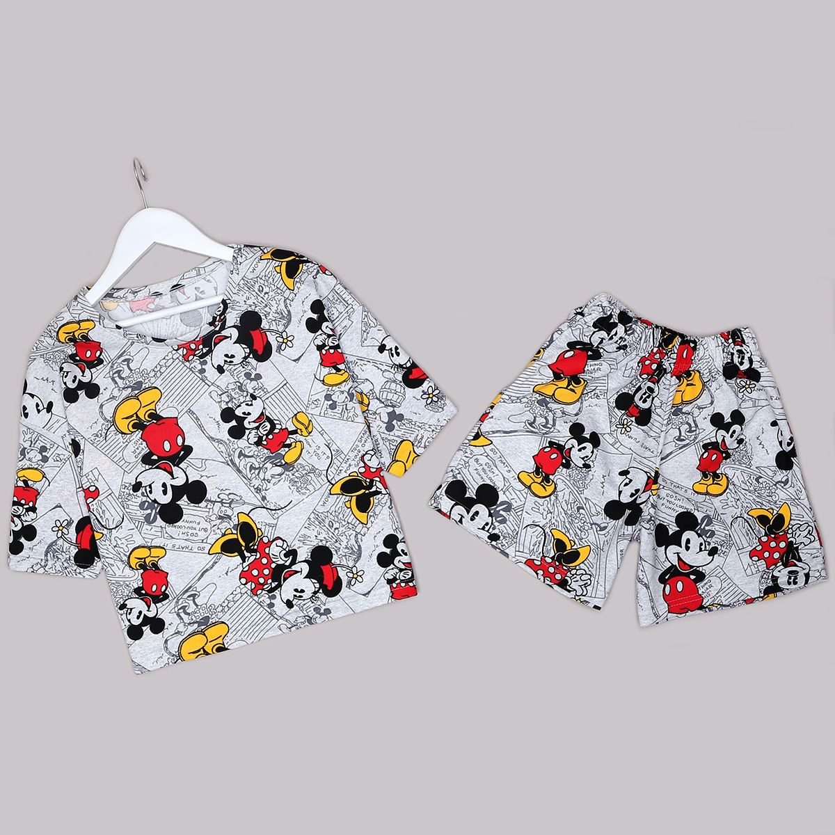 Gri Mickey Pijama Takımı PJM1285