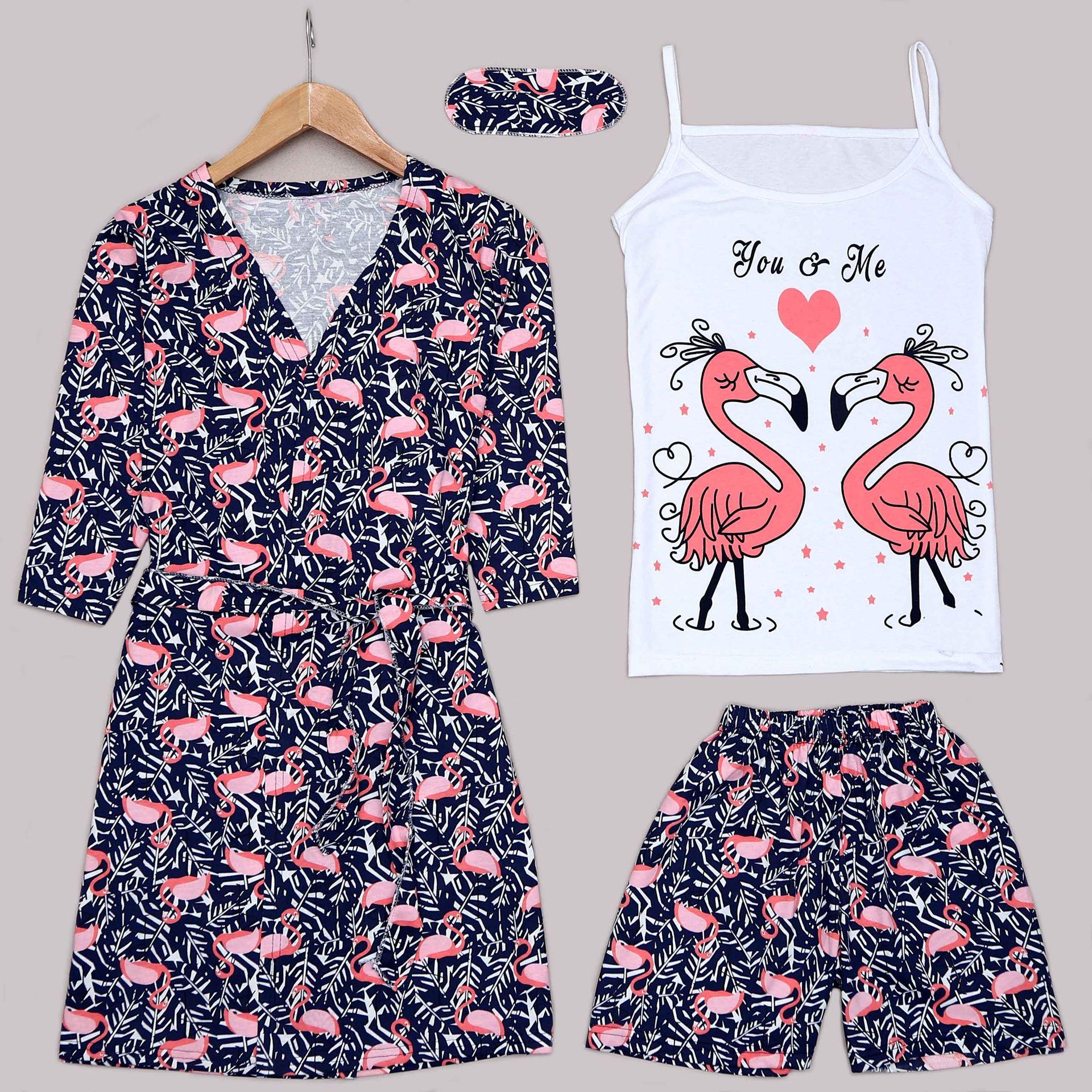 Flamingo 4'Lü Pijama Takımı PJM1300