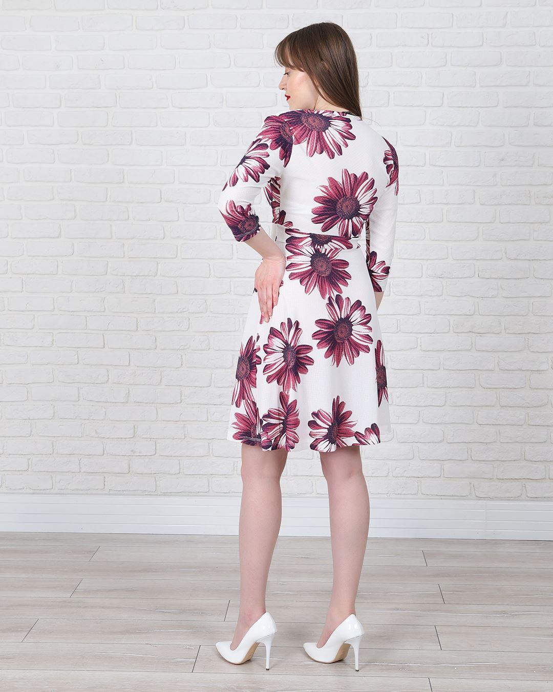 Çiçek Desenli Elbise ELB543