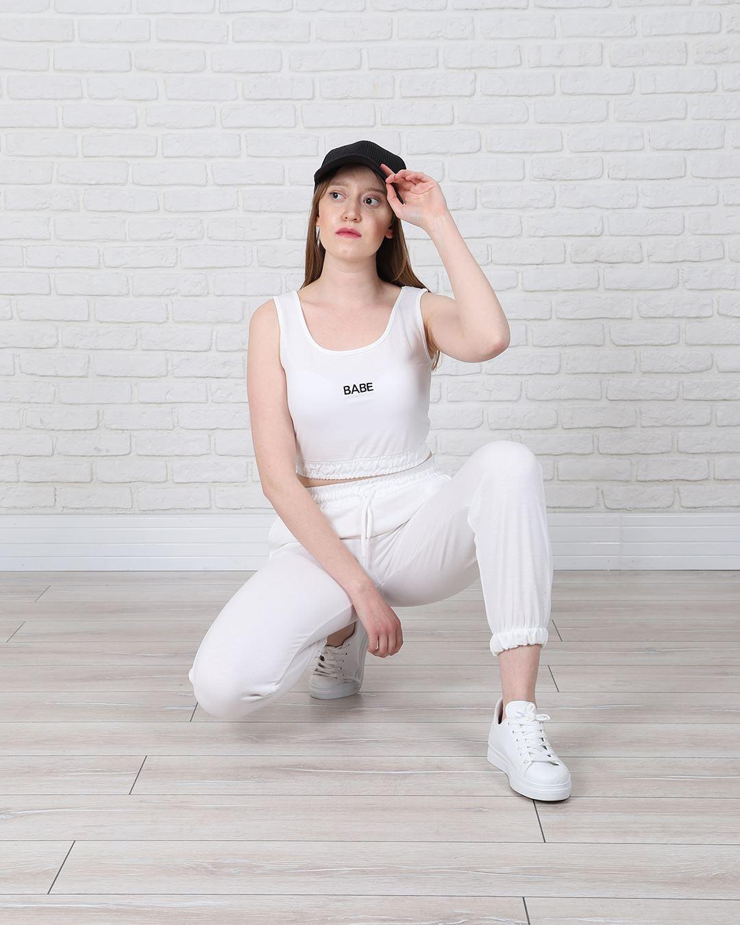 Beyaz Eşofman Takımı TKM1327