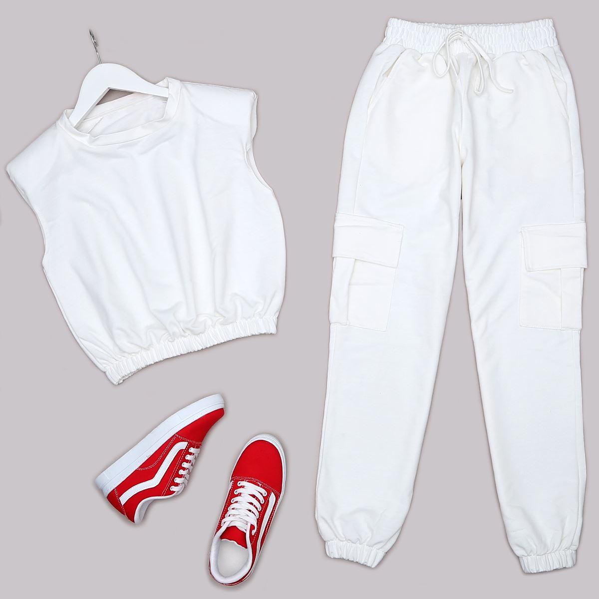 Beyaz Eşofman Takımı TKM1299