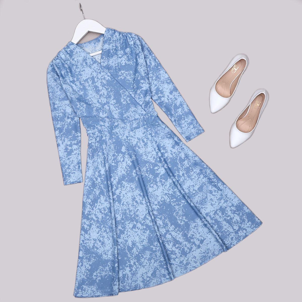 Mavi Batik Elbise ELB476