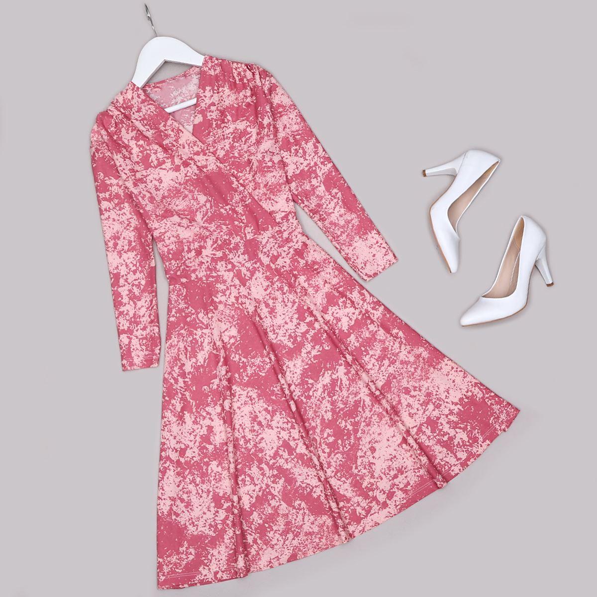 Pudra Batik Elbise ELB477
