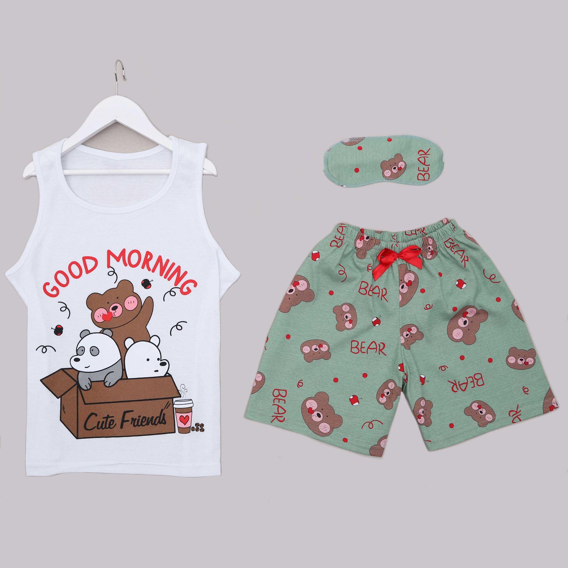 Bear Şortlu Pijama Takımı PJM1303