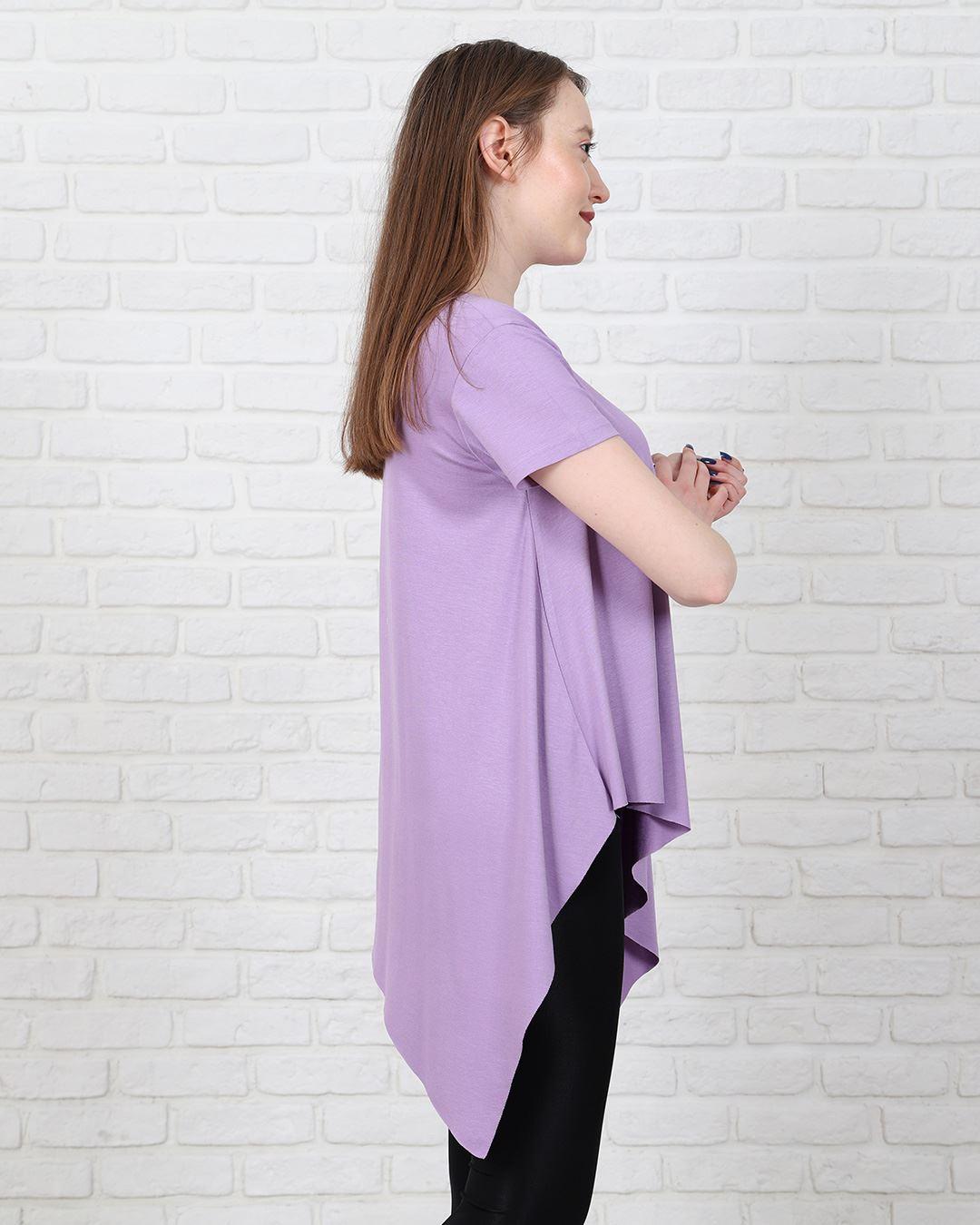 Lila Asimetrik T-Shirt TSH205