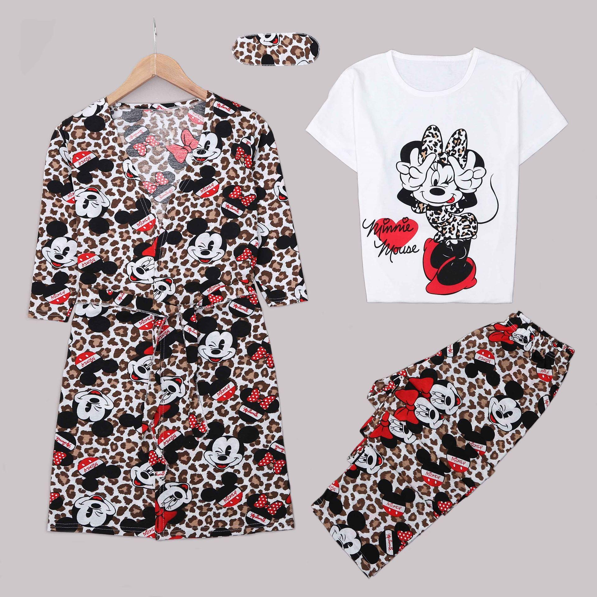 Leoparlı Mickey 4'Lü Pijama Takımı PJM1308