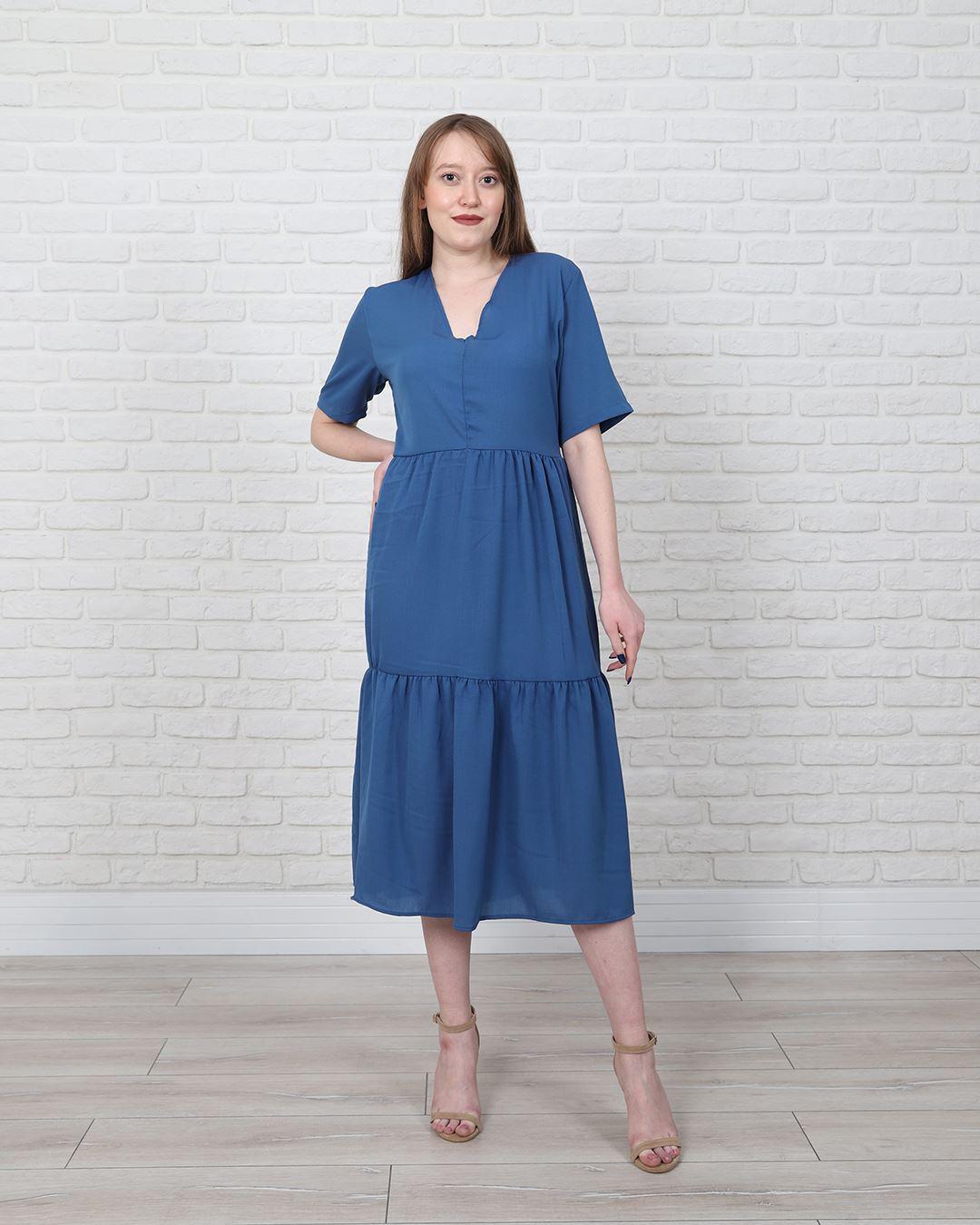 İndigo Elbise ELB562