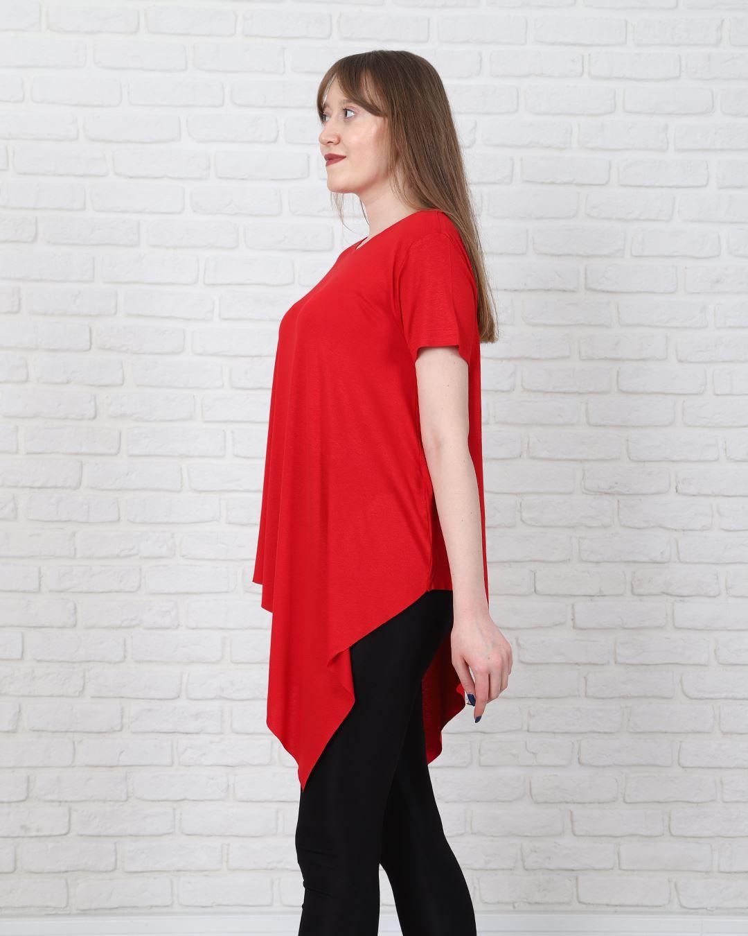 Kırmızı Asimetrik T-Shirt TSH206
