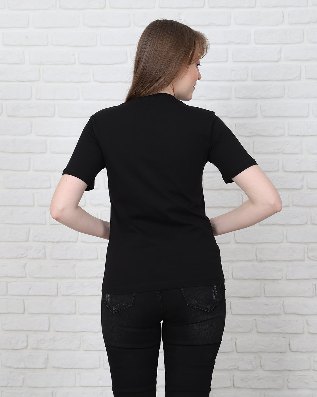 Siyah Baskılı T-Shirt TSH210