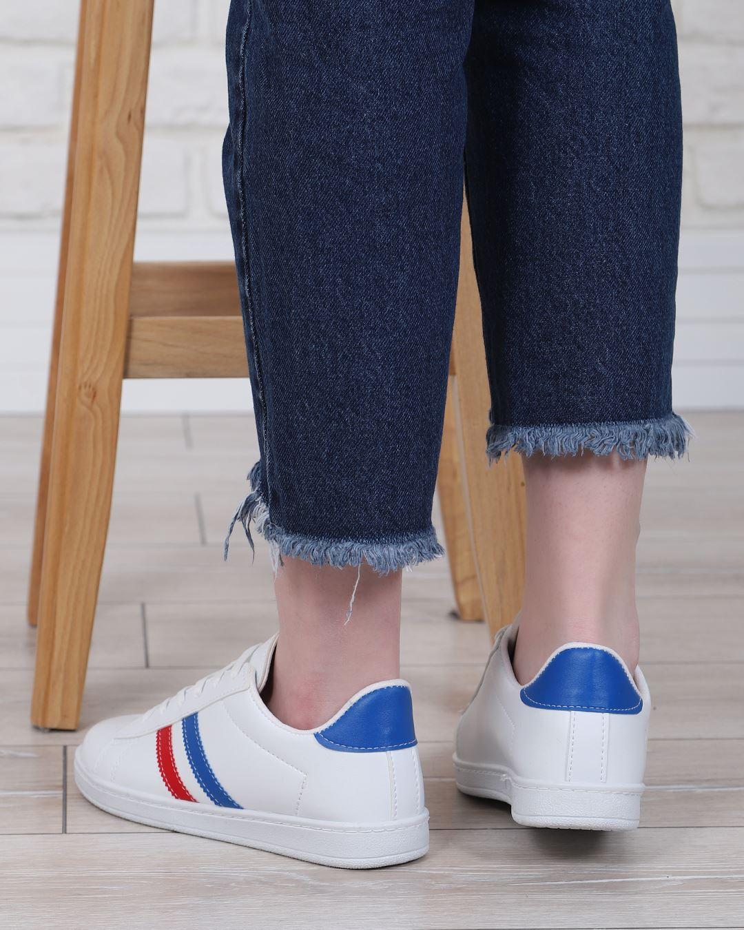 Beyaz Şeritli Spor Ayakkabı AYK220