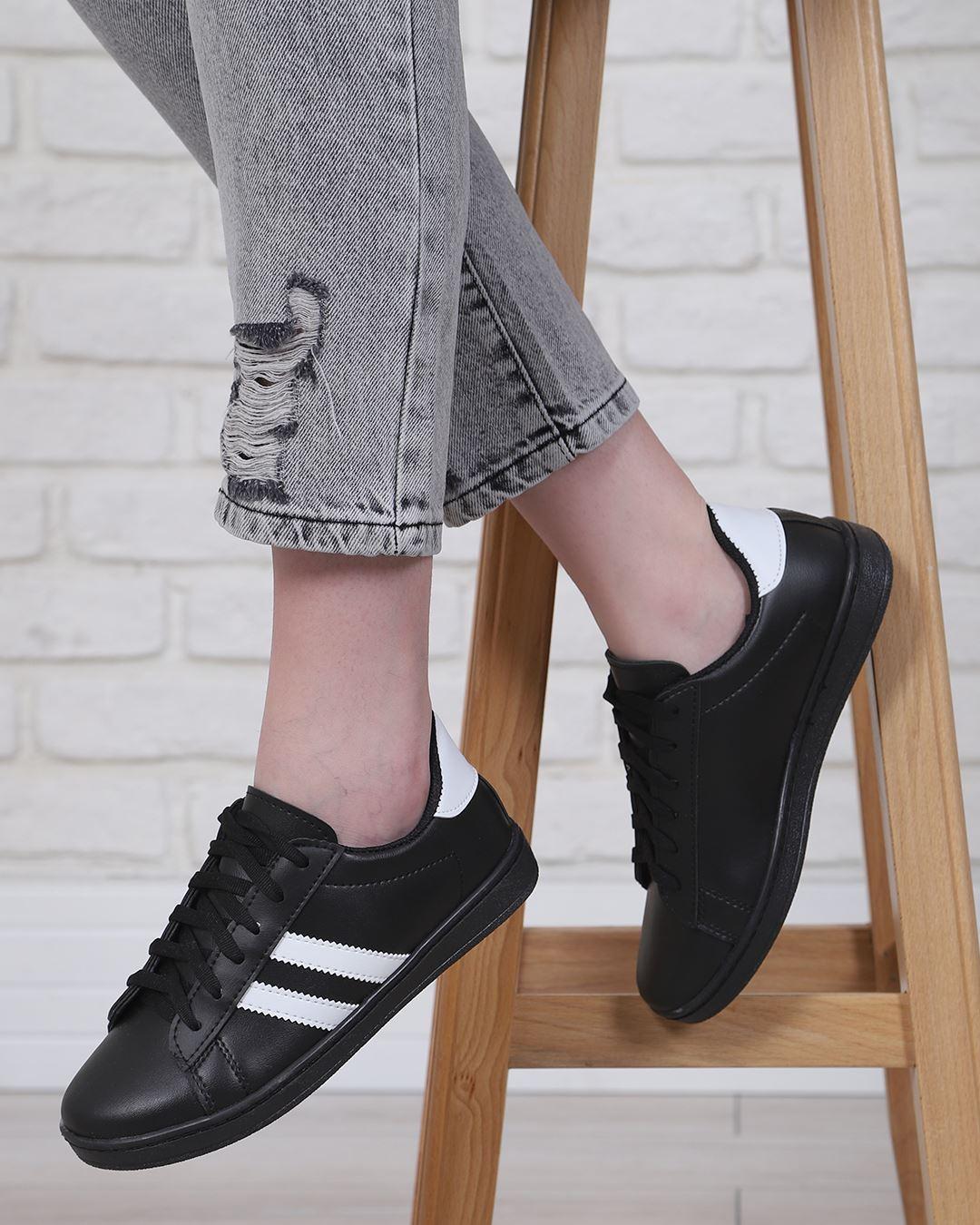 Siyah Şeritli Spor Ayakkabı AYK222