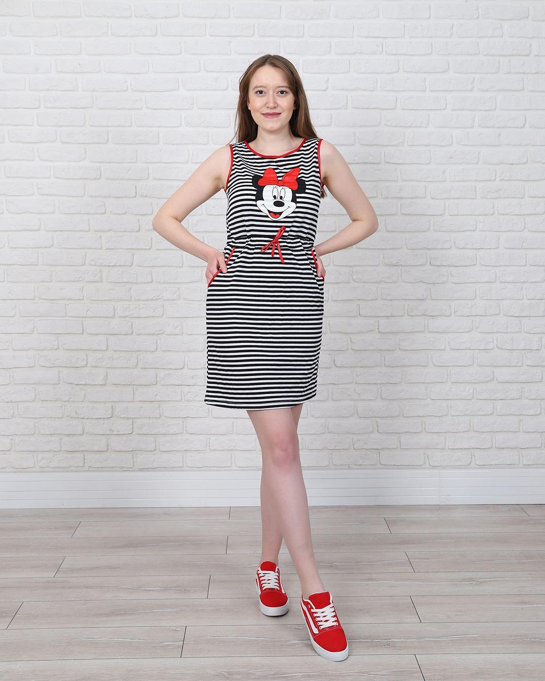 Mickey Çizgili Elbise ELB564