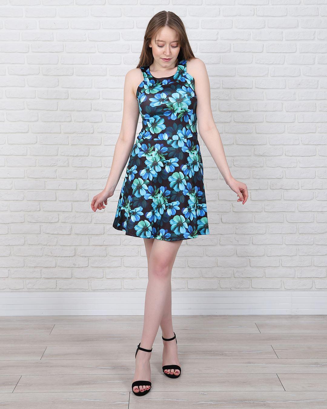 Çiçek Desenli Elbise ELB535
