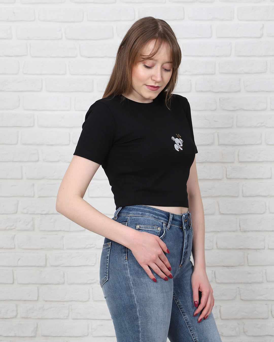 Siyah Crop T-Shirt TSH217