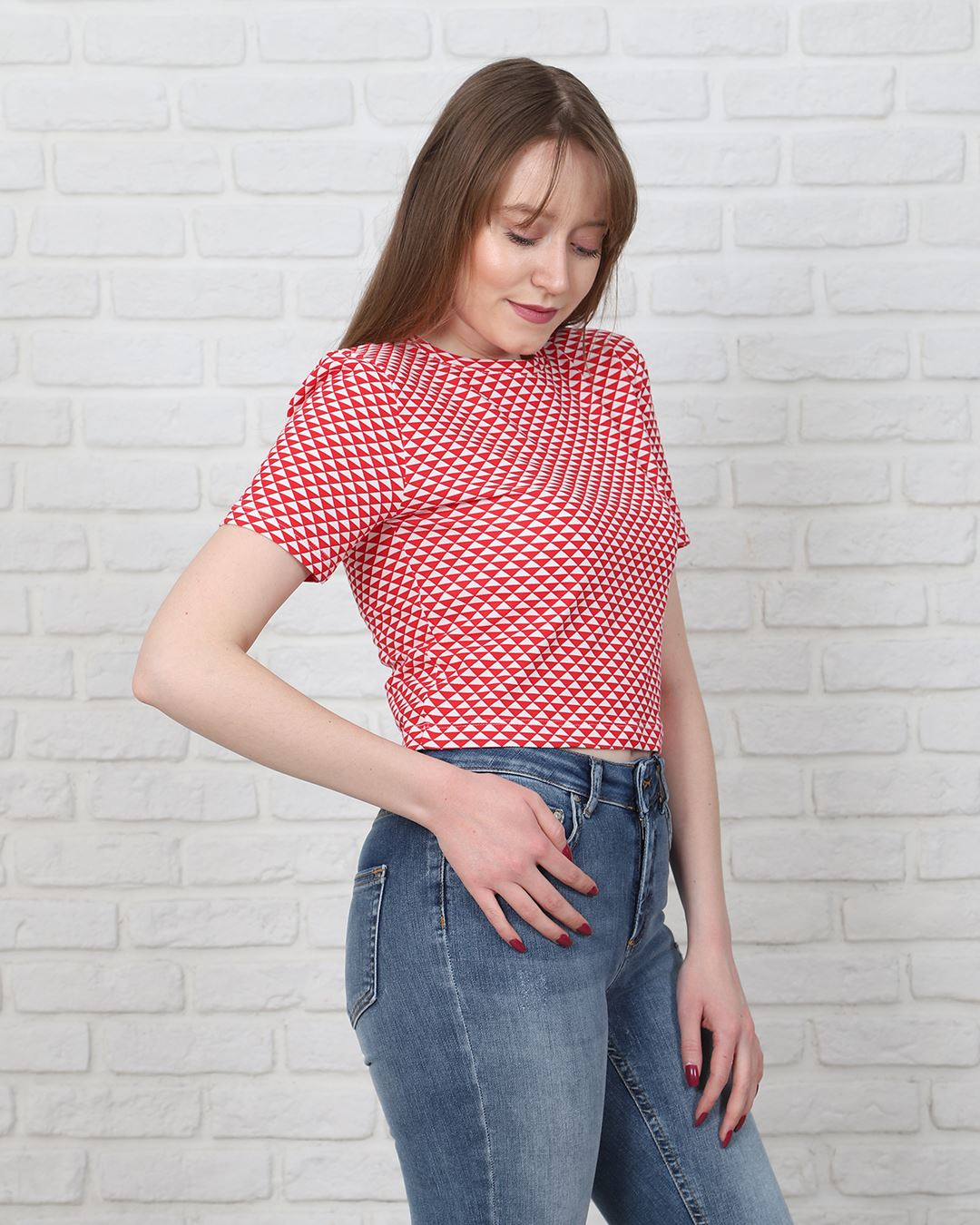 Kırmızı Crop T-Shirt TSH216