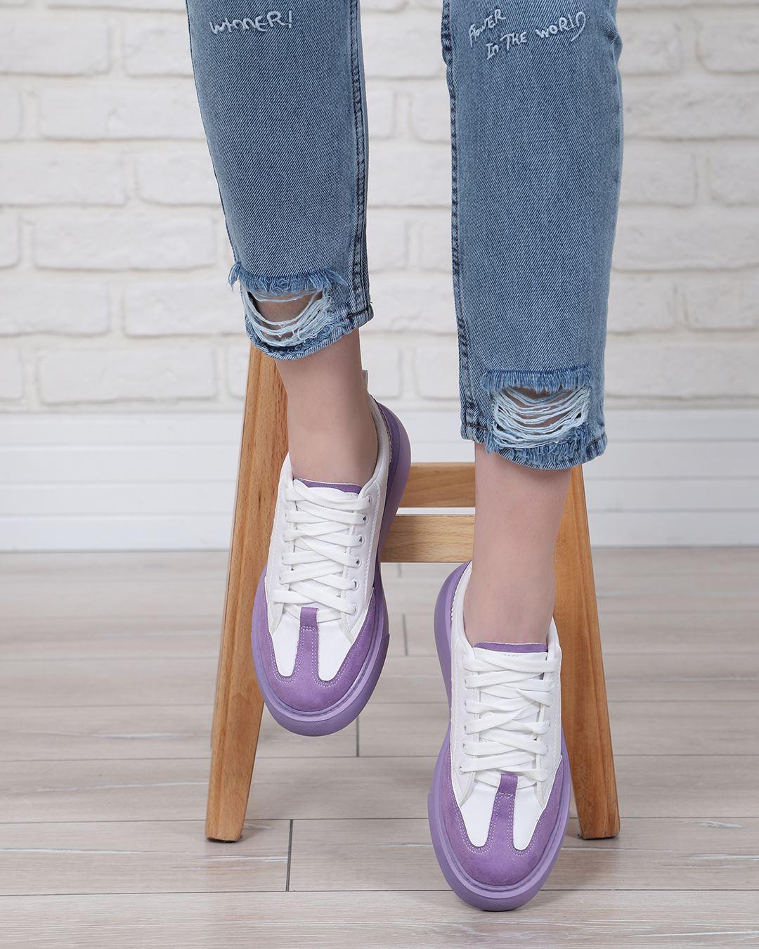 Yüksek Taban Lila Spor Ayakkabı AYK234