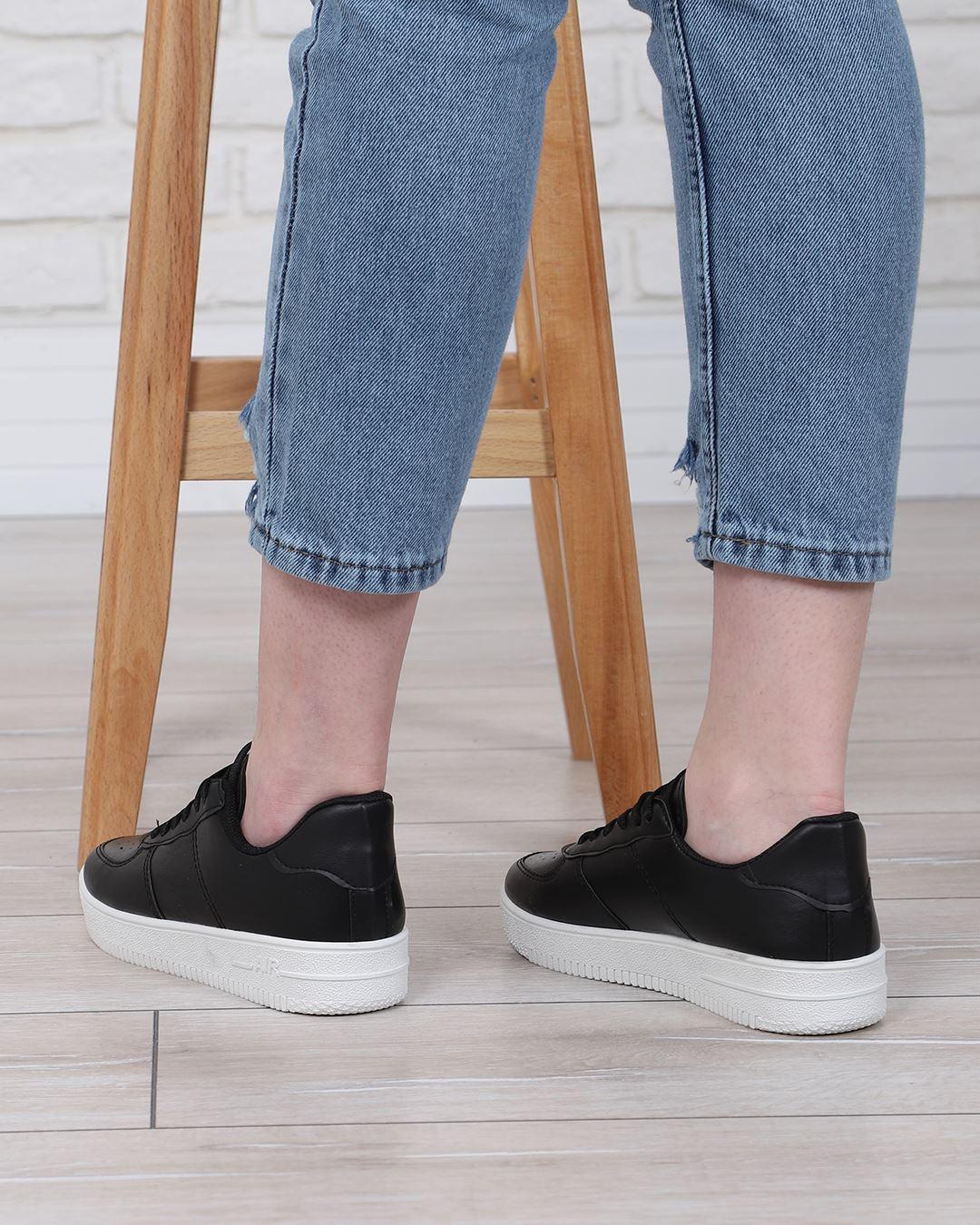 Siyah Tabanı Beyaz Spor Ayakkabı AYK167