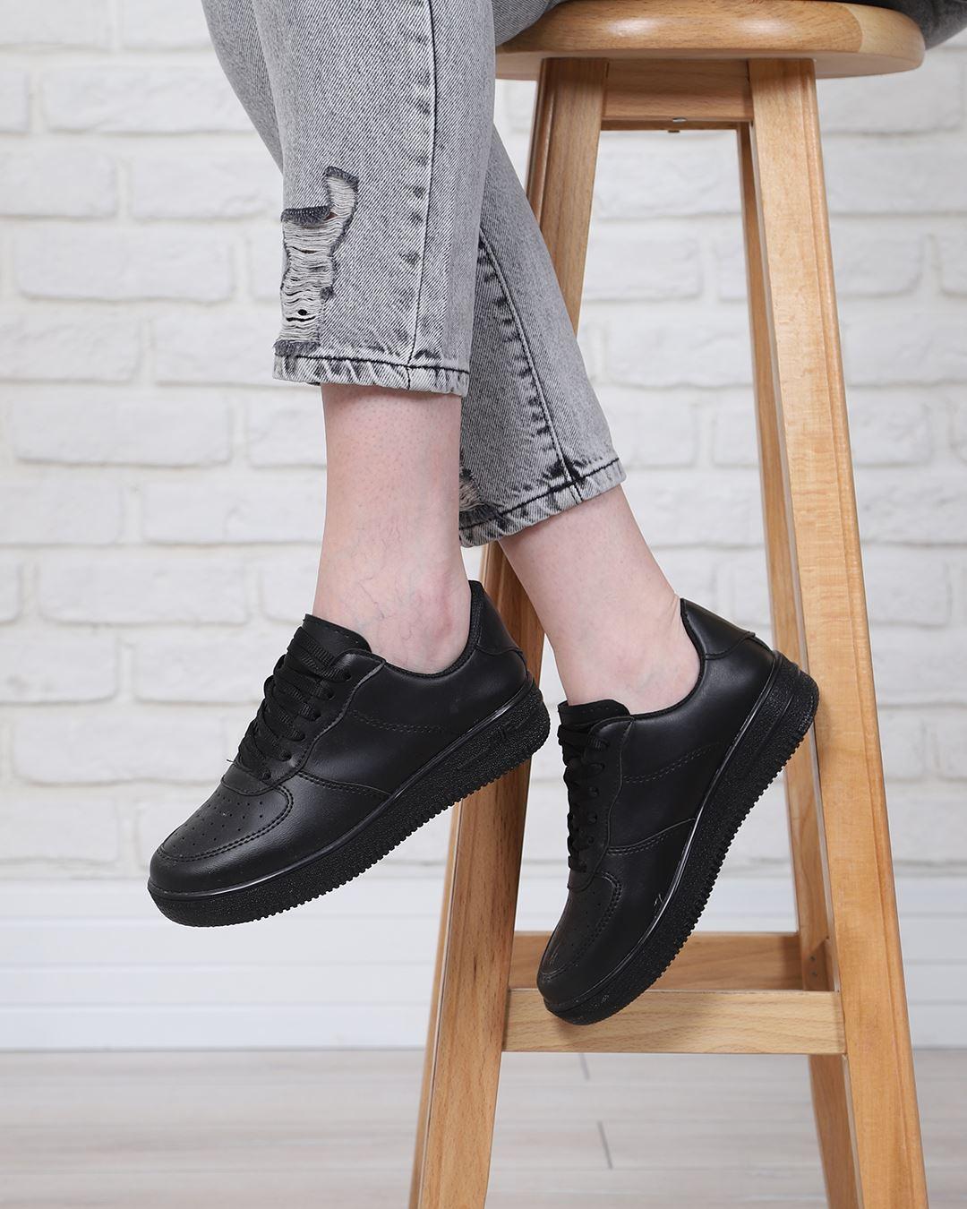 Siyah Spor Ayakkabı AYK166