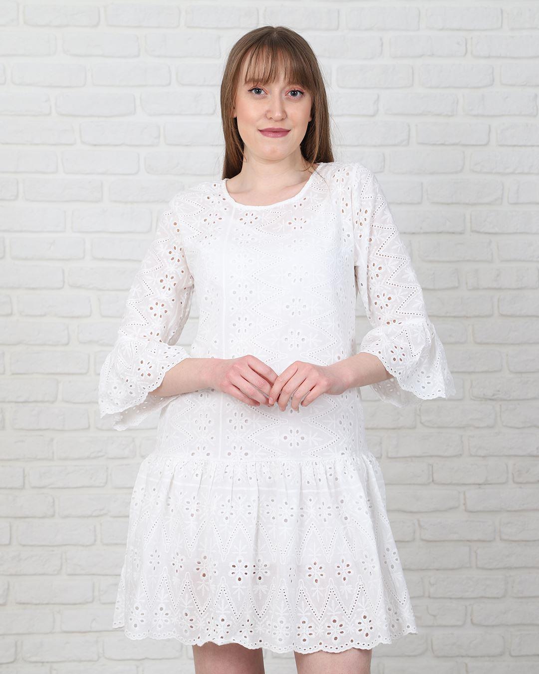 Beyaz Elbise ELB571