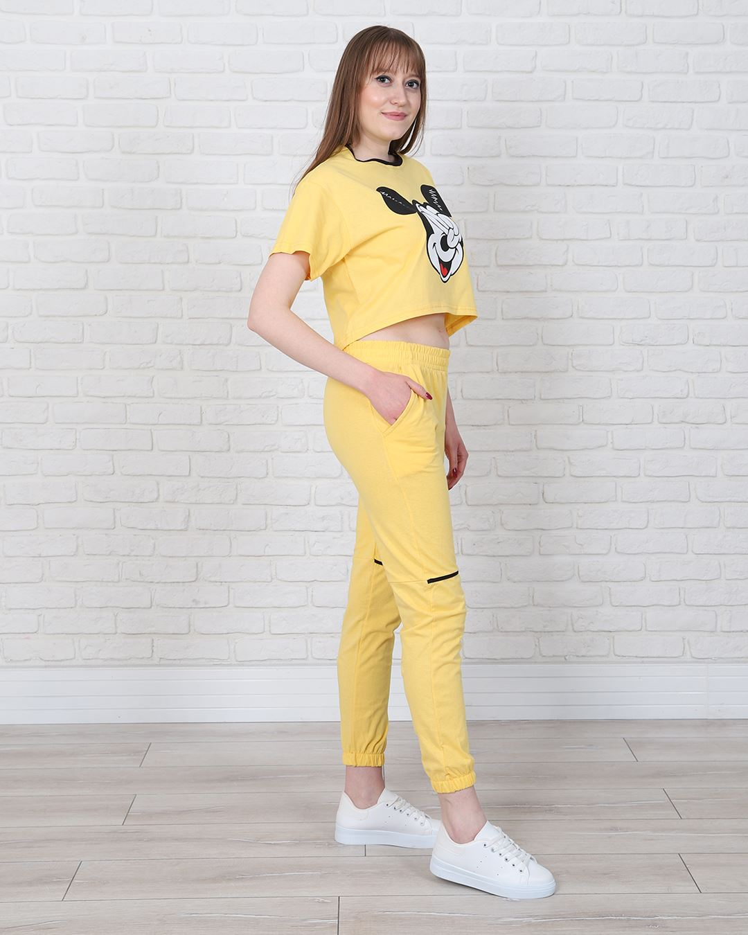 Sarı Baskılı Eşofman Takımı TKM1350