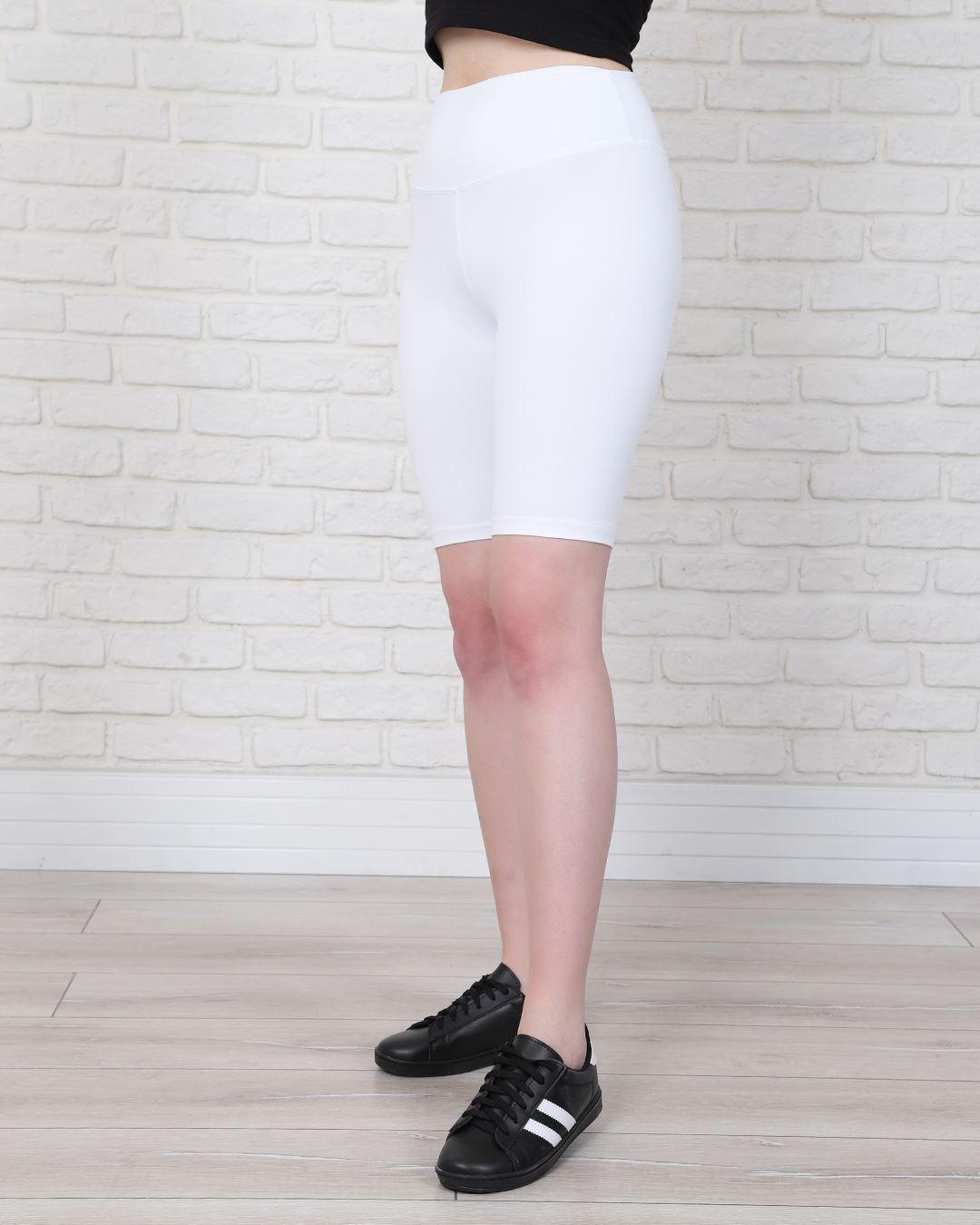 Beyaz Kısa tayt TYT184