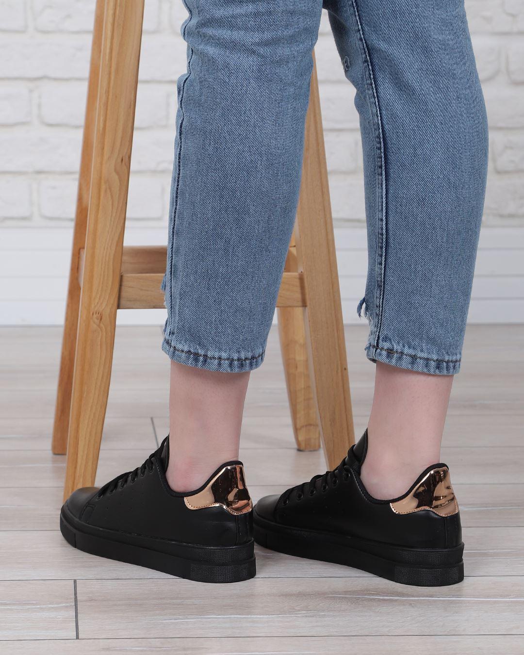 Siyah Arkası Bronz Spor Ayakkabı AYK078