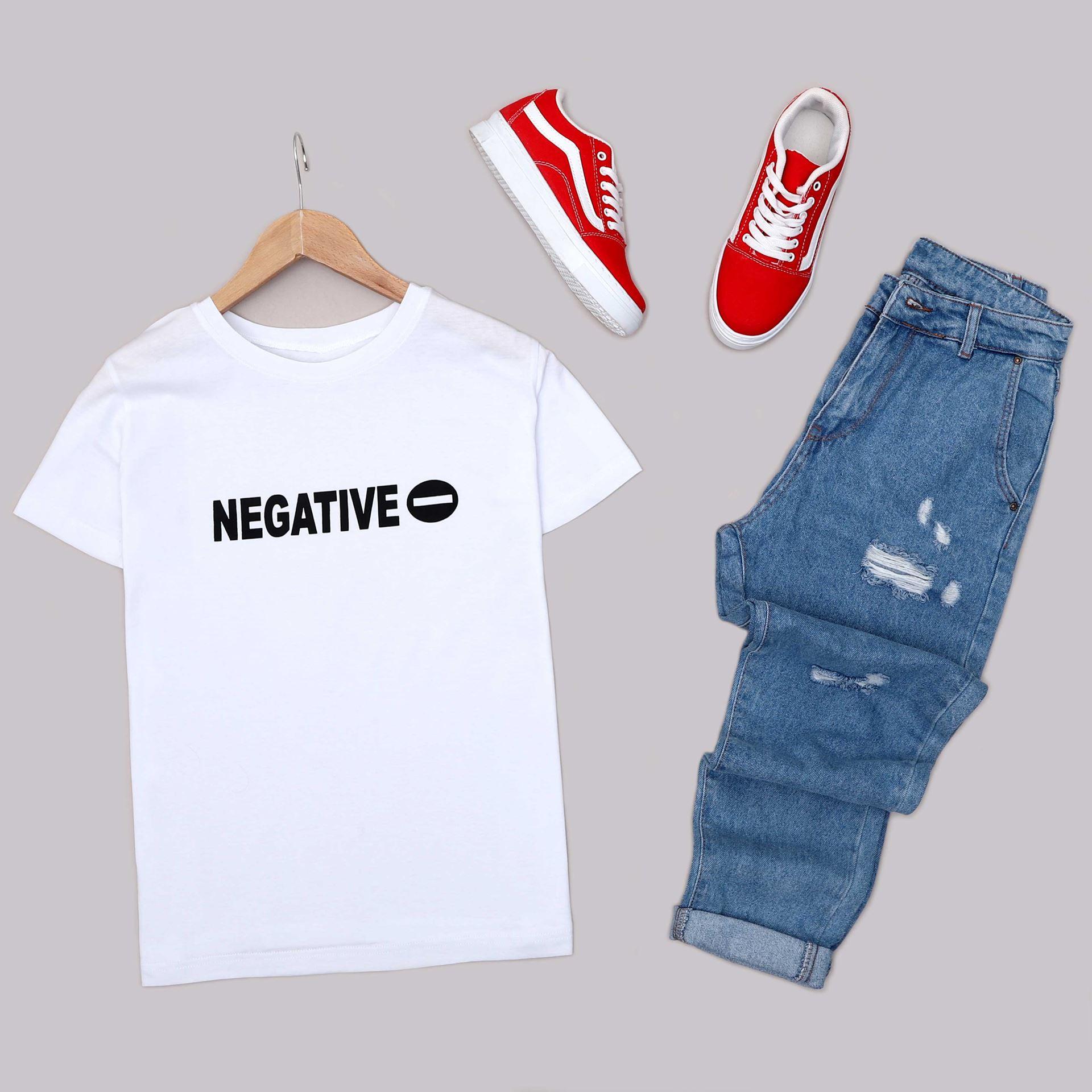 Beyaz Baskılı T-Shirt TSH233