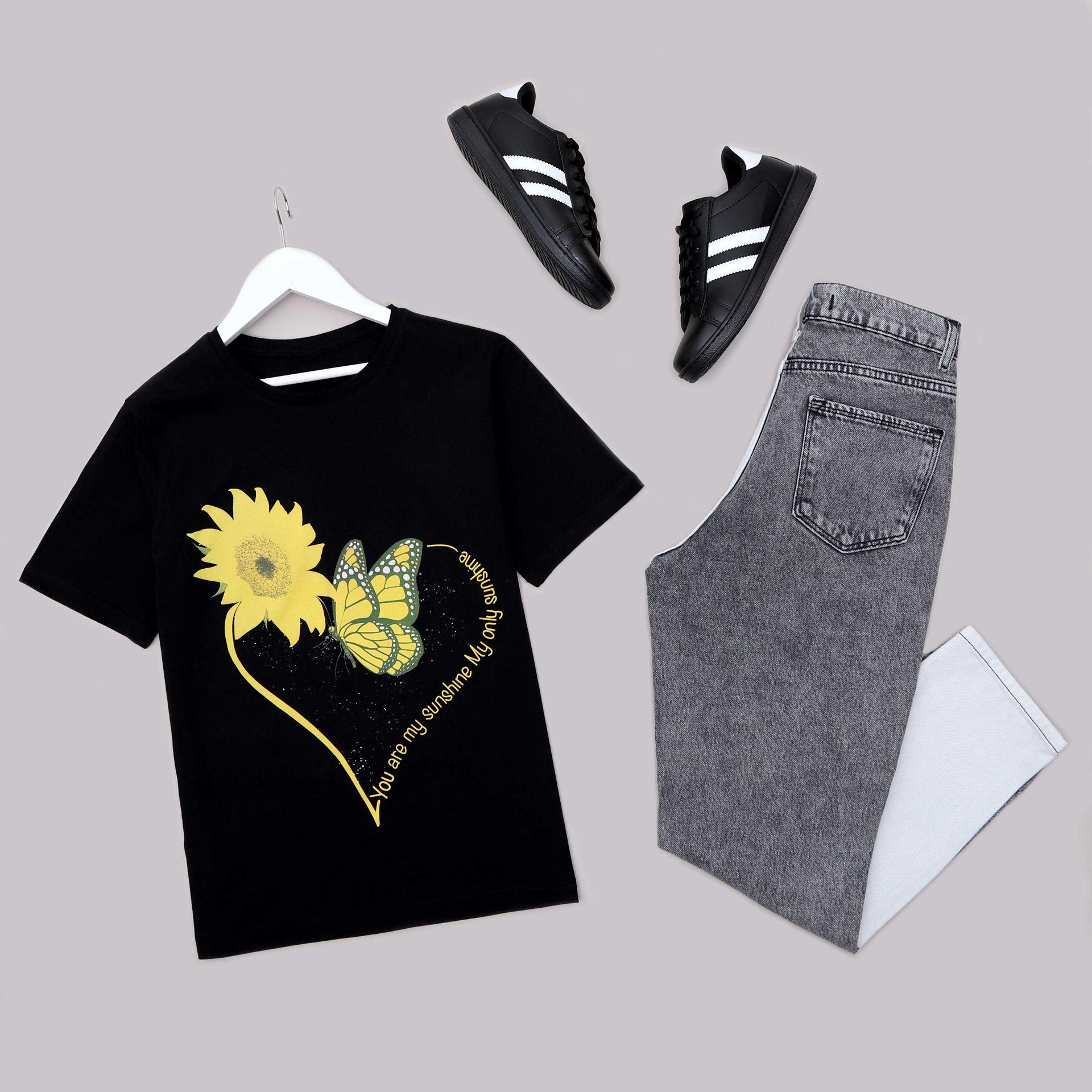 Siyah Baskılı T-Shirt TSH213