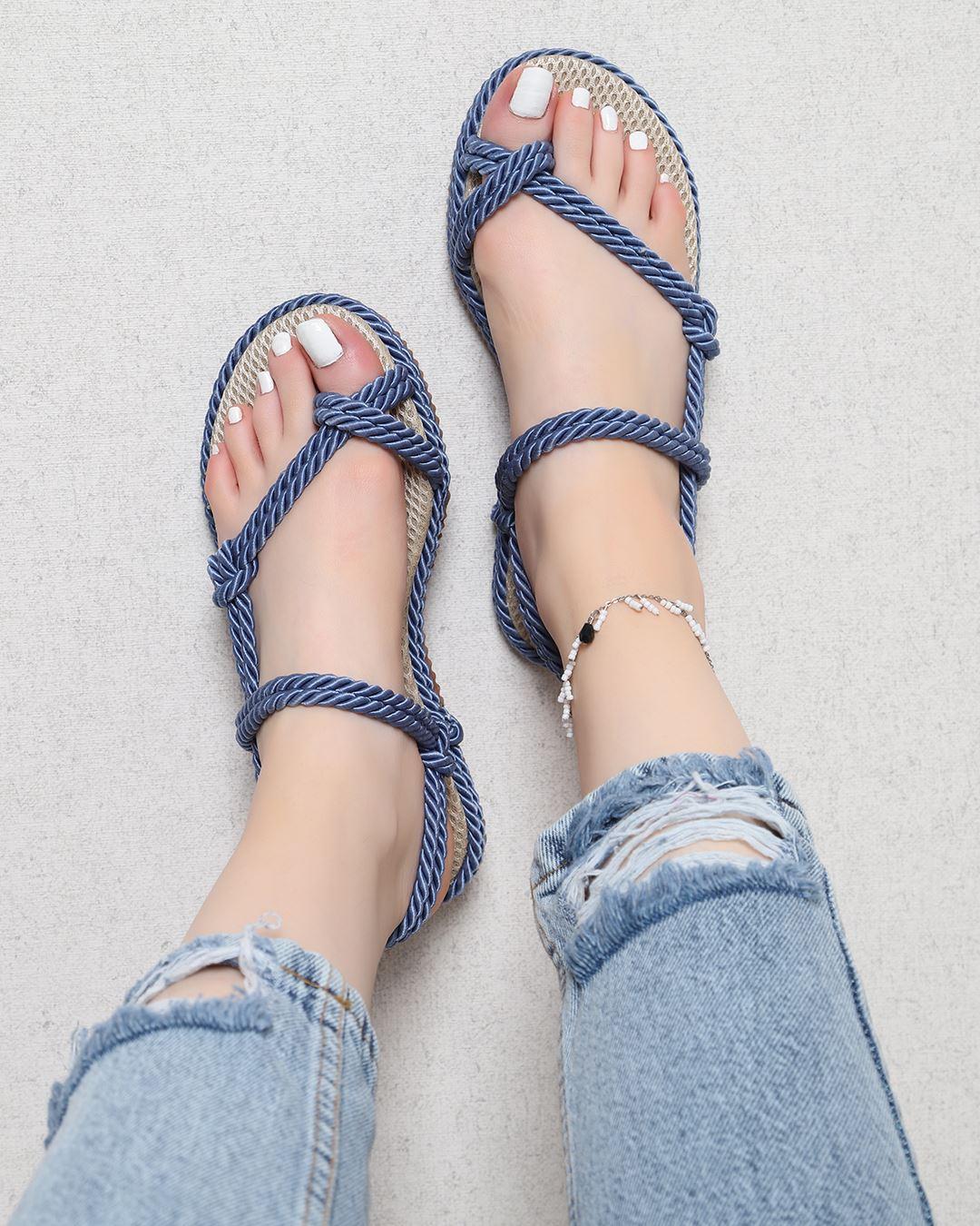 İndigo Parmak Arası Halat Sandalet SND151