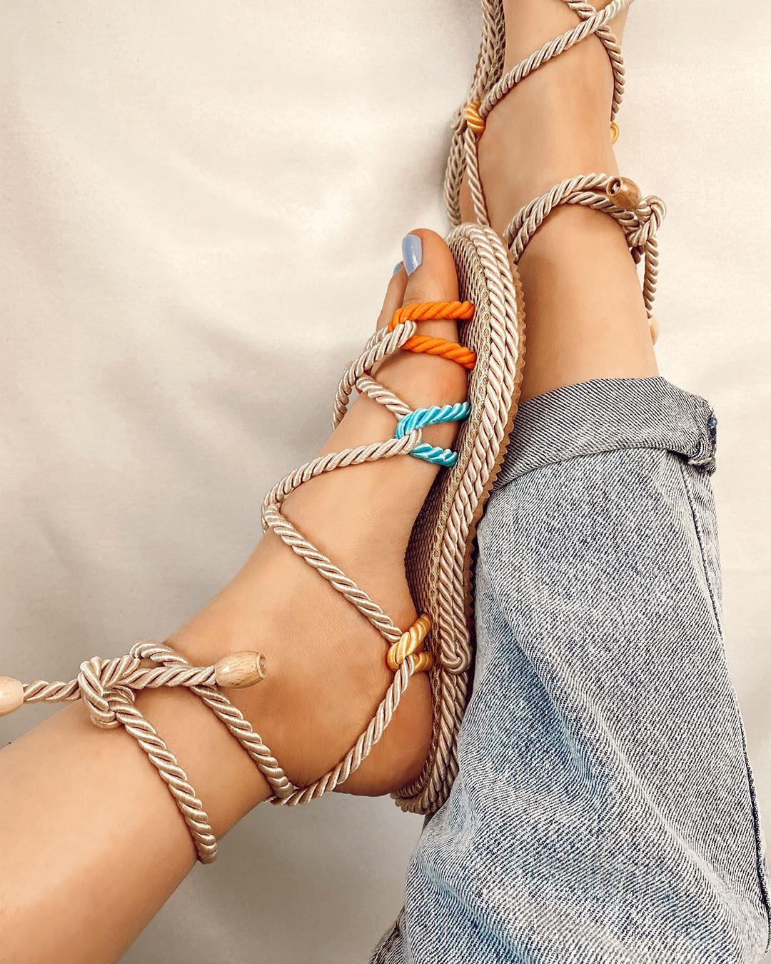 Üç Renk Halat Sandalet SND001