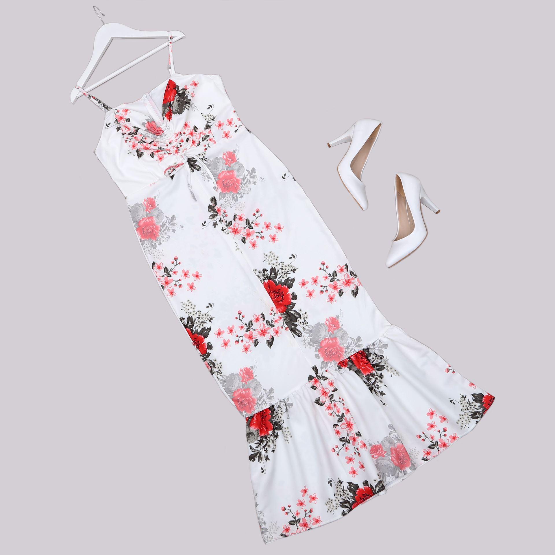 Çiçek Desenli Elbise ELB685