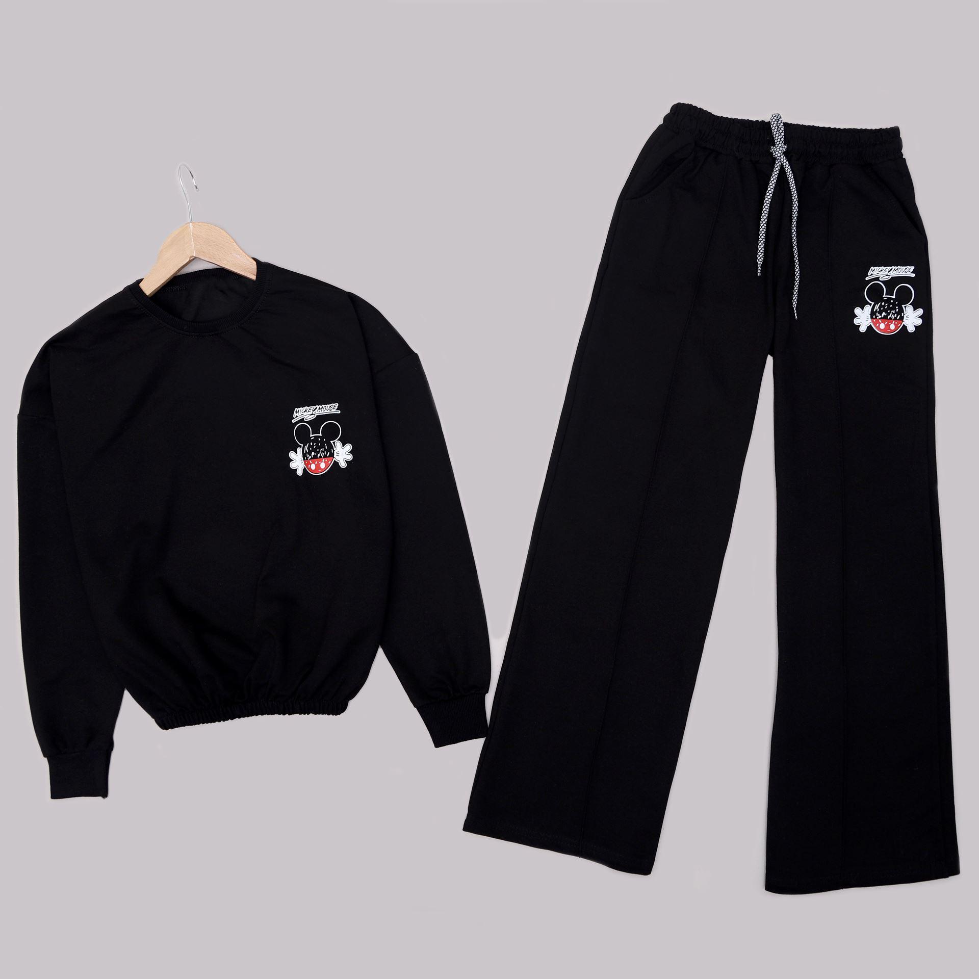 Siyah Sırt Baskılı Eşofman Takımı TKM1590