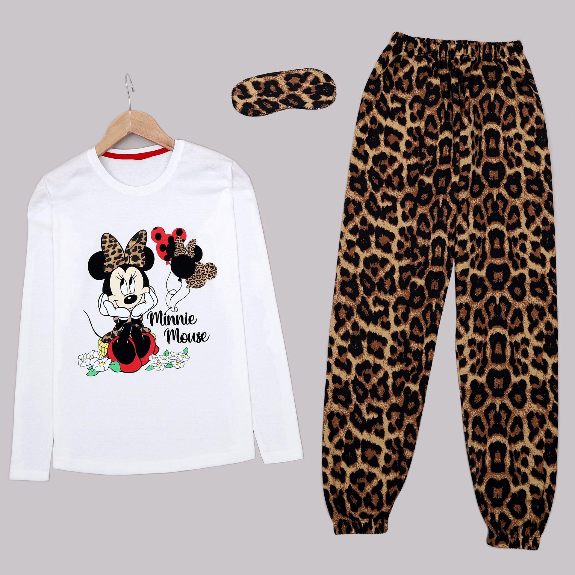 Beyaz Baskılı Pijama Takımı PJM1439