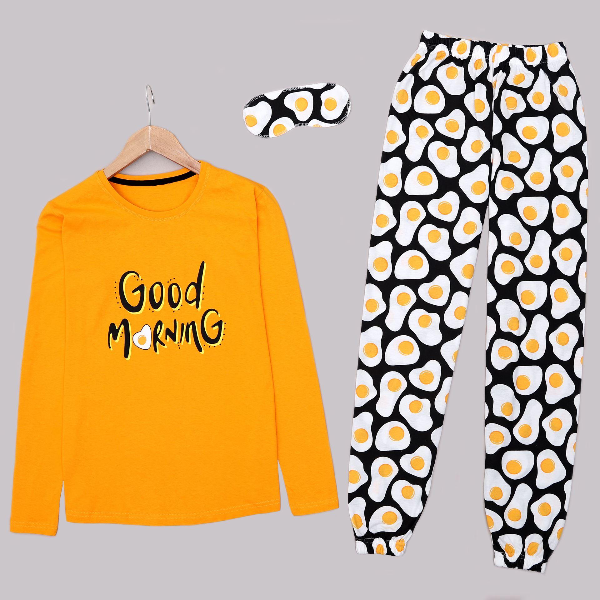 Hardal Baskılı Pijama Takımı PJM1440