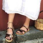 Bakır Çapraz Bantlı Sandalet SND072