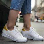 Beyaz Arkası Hardal Spor Ayakkabı AYK010