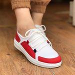 Kırmızı- Beyaz Fileli Spor Ayakkabı AYK085