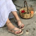 Nude Parmak Arası Halat Sandalet SND074