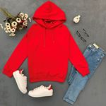 Kırmızı Kapşonlu Sweat-SWT015